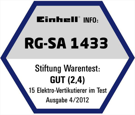 einhell rg sa 1433 elektro vertikutierer l fter vertikutierer l fter unkraut 4006825552935 ebay. Black Bedroom Furniture Sets. Home Design Ideas